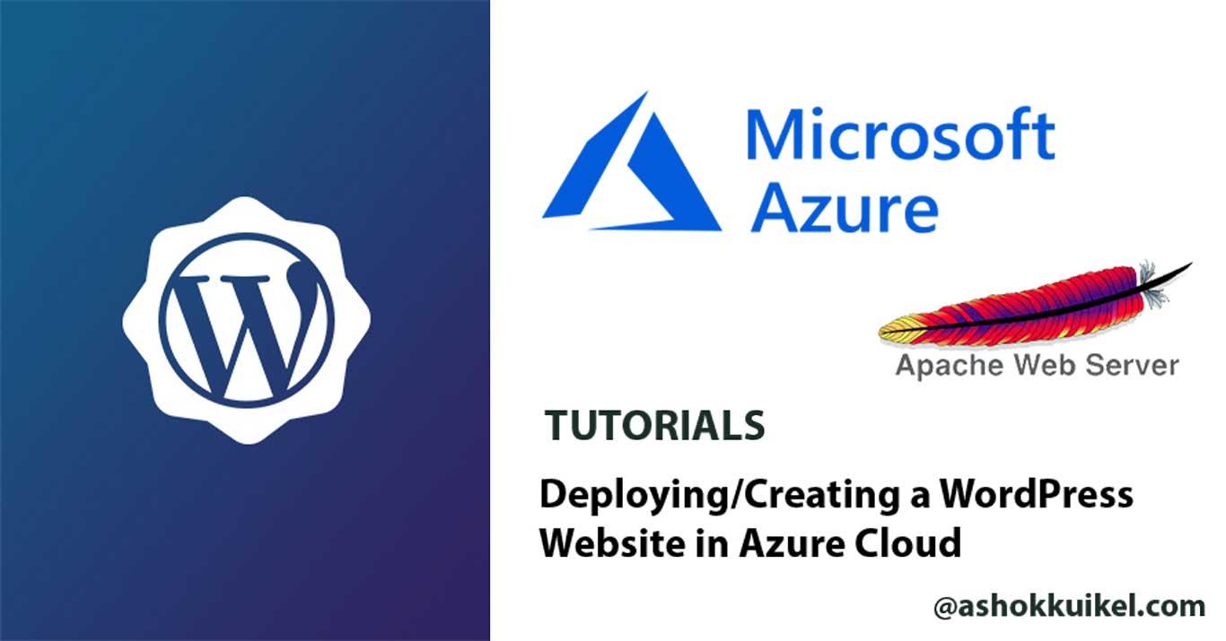 Deploying/Creating a WordPress Website in Azure Cloud